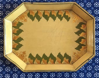 Charming Hand-Painted Tole Tray | 1960