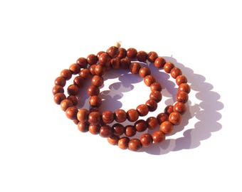 Bayong wood: 10 beads irregular 6/6.5 mm in diameter