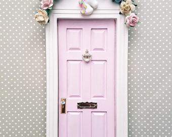 Unicorn Door, Fairy Door,Elf Door,Tooth Fairy Door,Dummy Fairy Door,Miniature Door,Doll House Door,Pink Fairy Door