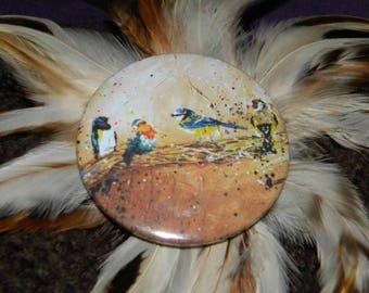 Bird magnet / / animal / / magnet / / gift idea / / decor / / painting / / design / / original / / Robin / / chickadee / swallow
