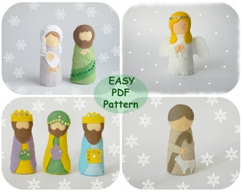 Gnome felt pattern scandinavian gnome pattern gnome pdf felt nativity set pattern felt nativity scene christmas nativity templates nativity felt decor pdf tutorial solutioingenieria Image collections