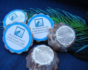 vanilla hazelnut coffee scented soy wax melting tarts brown