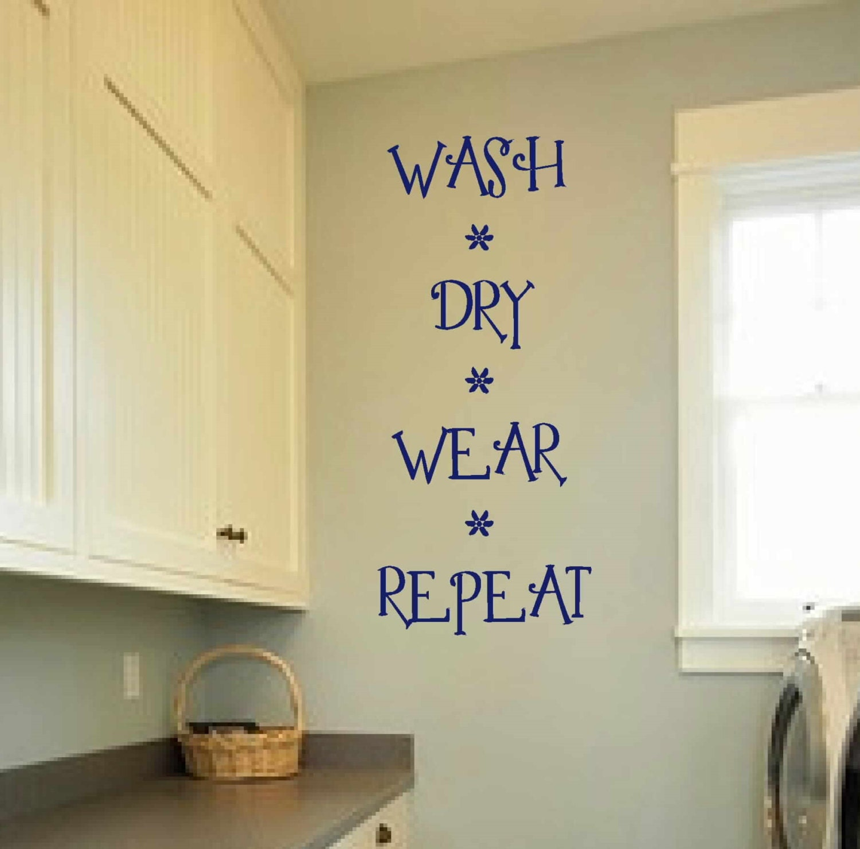 Laundry room decal wall art matt vinyl decals laundry