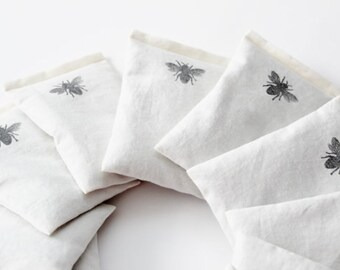Bee Lavender Sachets - Natural Dryer Bags Reusable - Eco Friendly Dryer Sheets
