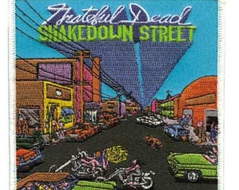 """Grateful Dead Shakedown Street Iron On Patch 4"""" x 4"""" Officially Licensed by C&D Visionary P1969"""