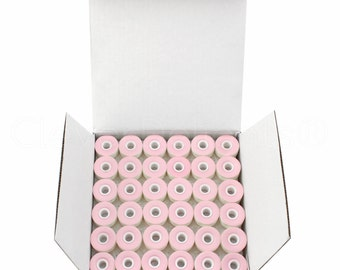 144 Size L Cardboard Sided Prewound Bobbins - White - Fits Many Sewing and Embroidery Machines - See Compatibility List