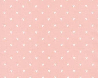 Organic Cotton Fabric - Cloud9 Tout Petit Sheeting - Little Hearts Pink
