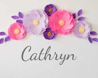 6 Nusrery Wall Flowers/ Paper Flowers/ Baby Shower Decorations/ Paper Flowers Wall Decor/ Wedding Decoration/ Arch Flowers/ Bridal Shower