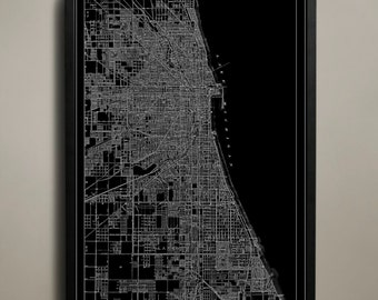 Chicago Map - Chicago Poster - Chicago Print - Windy City Map - Chicago Map Print - Map of Chicago - Chicago Illinois Print