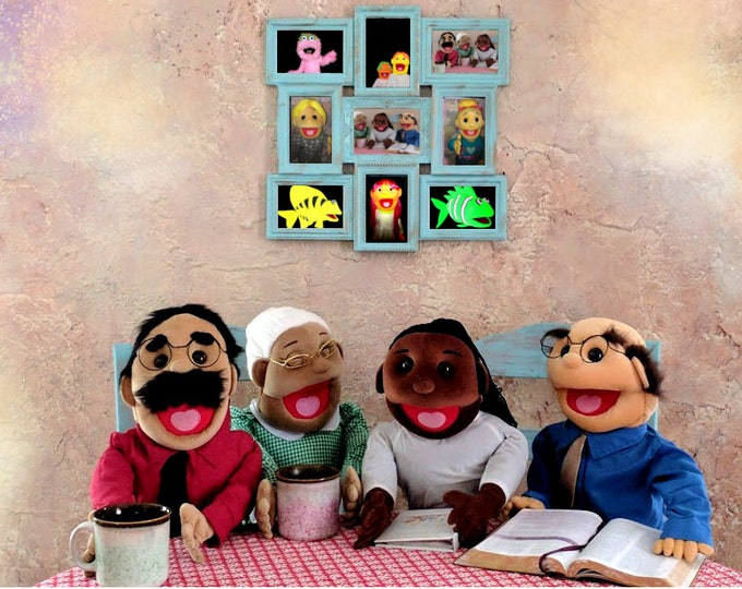 """PUPPETS - 4 Brand New Professional 30"""" Full Body Puppets w/ removable legs (Half Body) - Arm Rod"""
