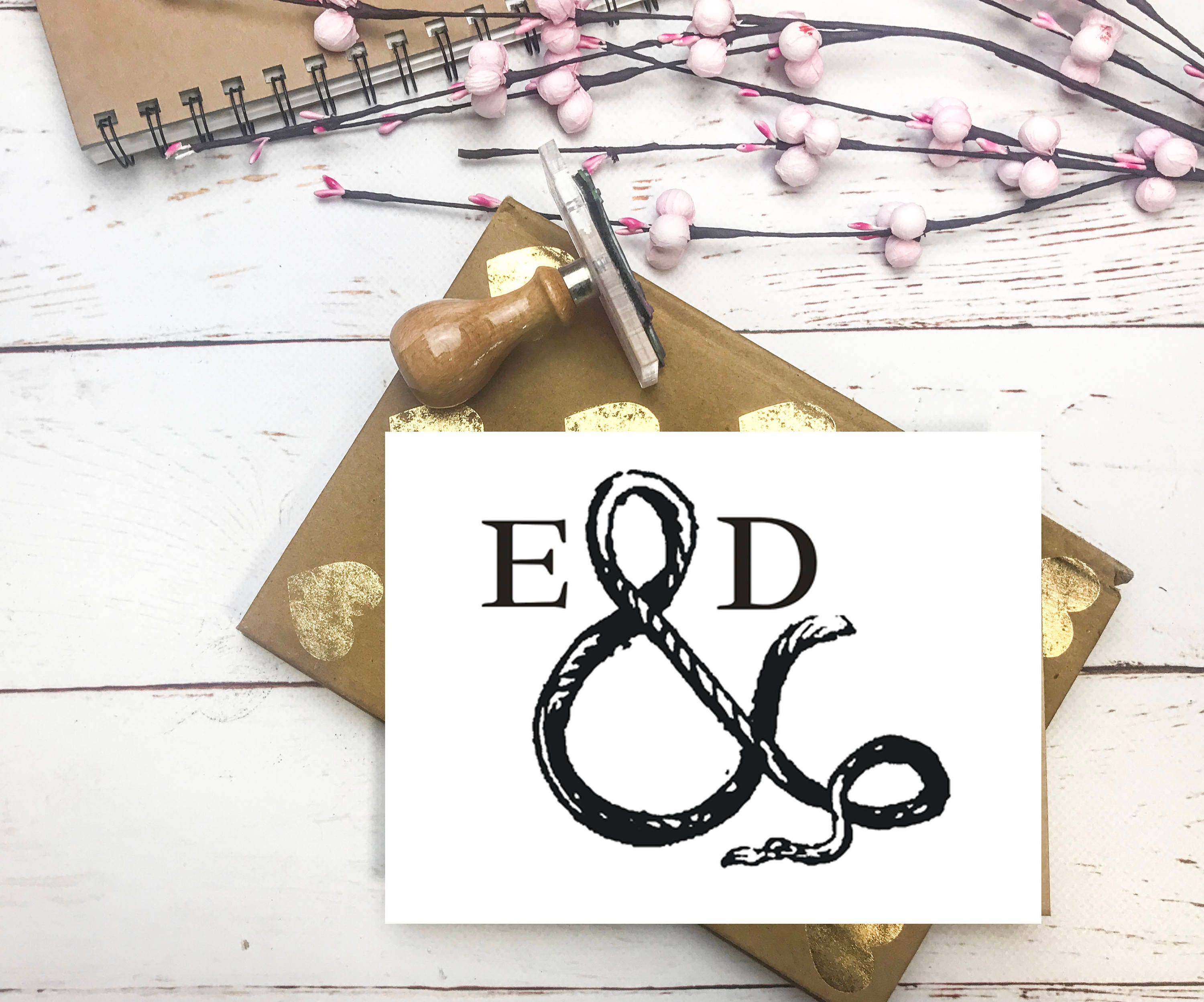 Wedding Stamp, Ampersand, Rope Monogram Stamp, save the date ...