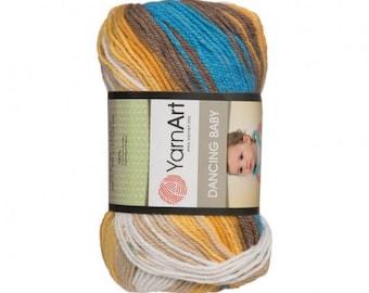 Yarn Art Dancing Baby Knitting Yarn, Variegated Colors - 813