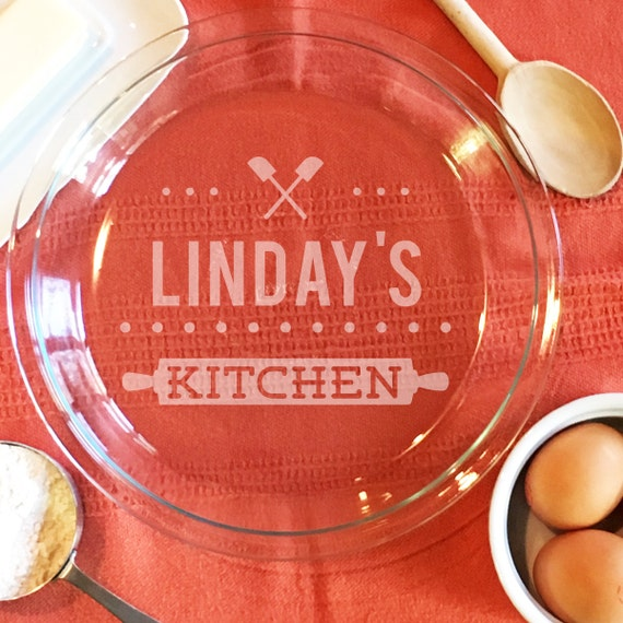 & Baking Gifts Custom Pie Plate Gift for Mom Personalized Pie