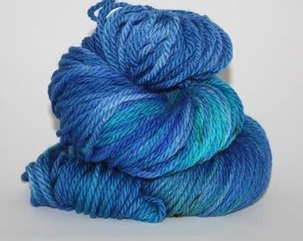 Hand-Painted Bulky 100% Superwash Merino Wool Yarn - The Great Lake Michigan