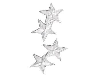 Blanc étoiles fer sur Applique, blanc étoiles fer sur, étoiles, Applique amusant Patch, Patch, broderie Patch pour enfants