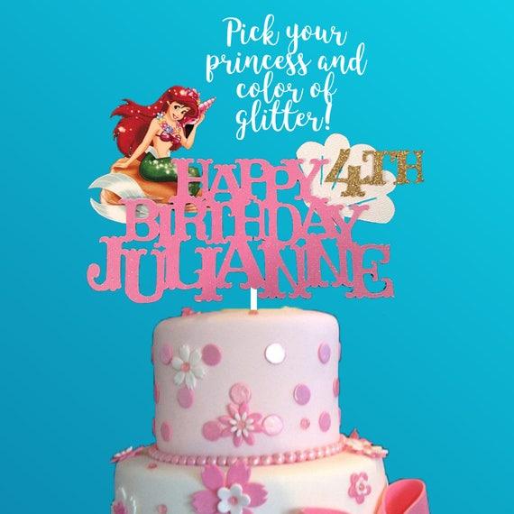 Little Mermaid Ariel Cake Topper Little Mermaid Cake