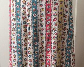 1940s floral A-line skirt - SZ M