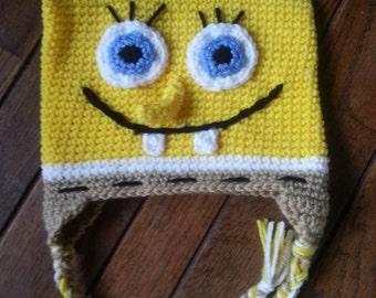 Adorable Spongebob Inspired Hat with Tassels