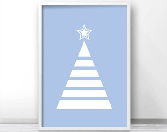 Instant Download Christmas Print, Download Printable Christmas Wall Art, Digital Art Holiday Decor, Christmas Tree Print, 8X10 Print