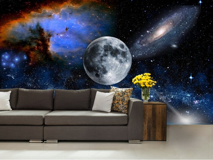 Galaxy Wall Mural Wall Mural Stars Nebula Wall Mural
