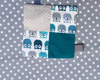 turquoise Grey Owl blanket