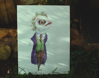 JOKER. CUSTOM PORTRAIT. Cartoon Character. Illustration. Art. Drawing