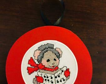 Christmas Carole Singer Cross Stitch Ornament