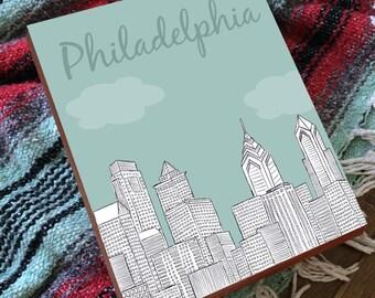 Philadelphia Skyline - Philadelphia artwork - Philadelphia Wall Decor - Philadelphia Decor - Philly Wall Decor