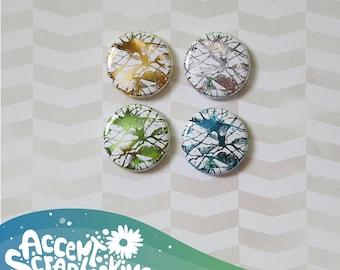 "Badge 1 ""- metallic squiggles #2 (Design by KareenBH)"