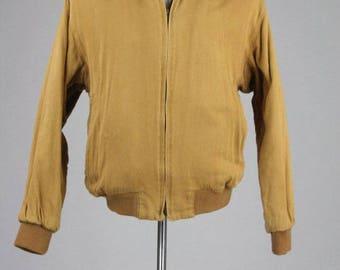 ON SALE Vintage 80s Banana Republic Tan 100% Cotton Coat/Jacket L
