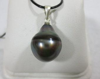 Tahitian Pearl Pendant Baroque Tear Drop Shape [item 101]