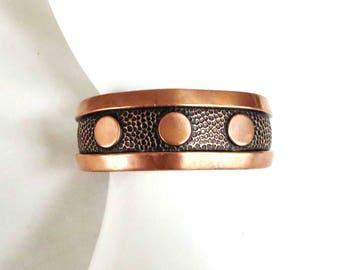 Copper Cuff Bracelet Vintage 1960's Boho