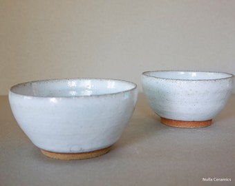 Two Small white Bowls
