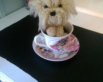 Crochet Yorkie tea cup puppy READY To SHIP