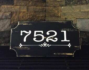 Mailbox Sign. Address Sign. Address Number. Address Plaque. Housewarming Gift. Personalized Address Sign. Routed Address Sign. Wood Sign.