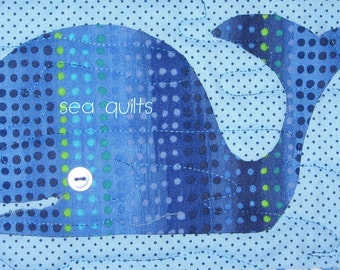 Whale Quilt Pattern: Thar She Blues