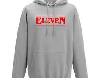 Stranger Things Eleven Hoodie Sweater Sweatshirt Pullover Stranger Things Gift Kids Hoodie Friends Don't Lie Bitchin Hawkins Mileven happy