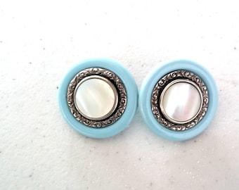 Vintage, Stud Button Earrings