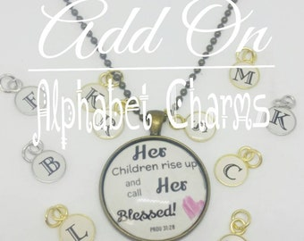 Add on Alphabet Charms for Your Pendant Necklace