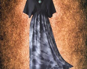 Japanese Shibori Tie dye Artwork Casual Kimono maxi Dress