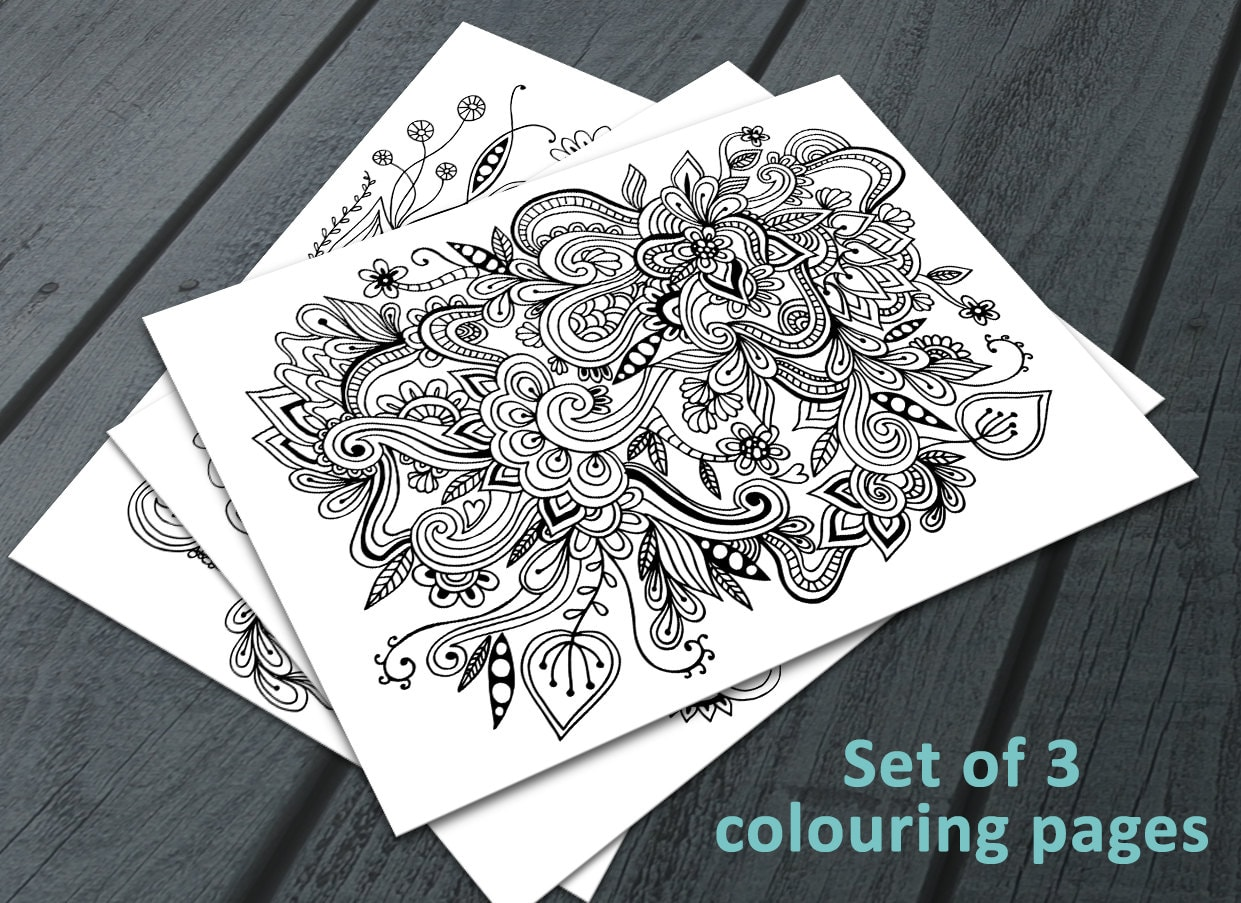 Colouring Pages Pdf For Adults : Doodle adult colouring pages printable colouring pages zen