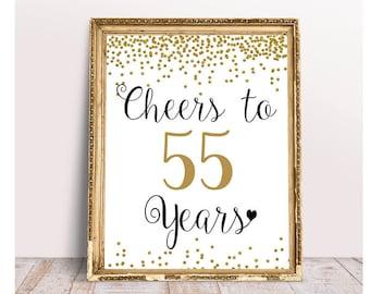 55th Birthday Party Etsy