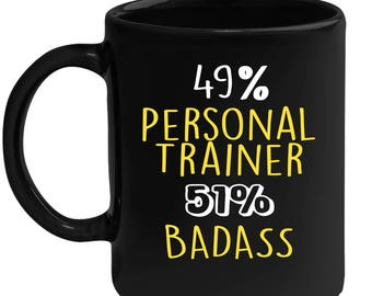 mug for personal trainer gift for personal trainer black mug gift for coffee or tea