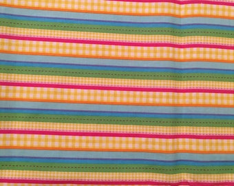 Colorful Multi Stripe Fabric