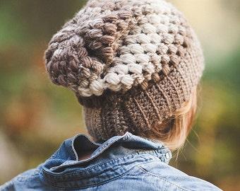 Crochet Puff Stitch Beanie--adult
