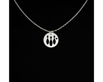 Bowling Necklace - Bowling Jewelry - Bowling Gift