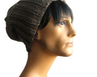 Slouchy Beanie, Taupe Watchman Cap, The Alex Hat, Slouchy Hat, Vegan Knits, Mens Beanies, Winter Hat, Mens Knit Hat, Knit Accessories