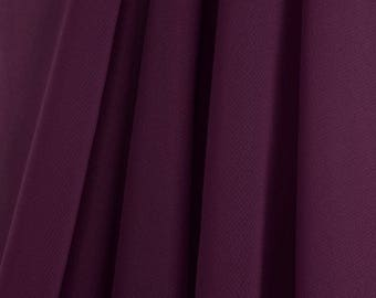 "60"" Wide - High Quality 100% Polyester Chiffon Sheer Fabric - PLUM"