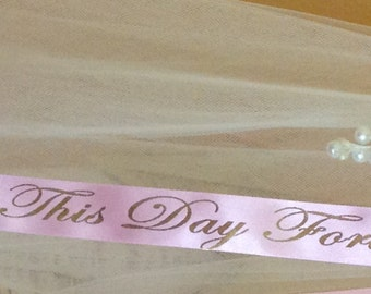 """1"""" Custom Printed Personalized Ribbon  5 Yards or More for Holidays & Gift Giving"""