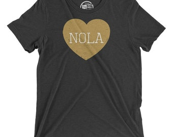 New Orleans Love Vintage Tri-blend T-Shirt